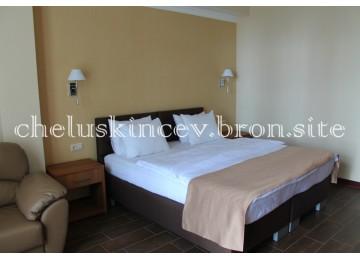 «Студия» 2-местный 1-комнатный (Новый корпус)| Номера и цены 2018| Дом отдыха «Челюскинцев» |Абхазия, Гагра, Гагрский район